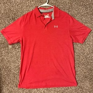 Men's Under Armour Loose Fit Heat Gear Polo -Large